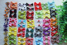 Hot Pet Hair Clips Cute Bowknot Clips 3.5CM Dog Hair Bows Pet Grooming Products