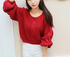 Fashion Elegant Women Girl Warm Thicken Winter Sweet Short Knitwear Pullover Hot