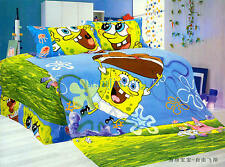 STUNNING DISNEY SPONGE BOB TWIN FULL QUEEN 7PC COMFORTER IN A BAG FREE SHIPPING