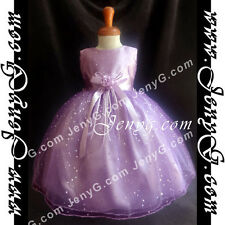 #SP01 Flower Girls/Christening/Formal/Pageant/Party Gown Dress, Purple 0-5 Years