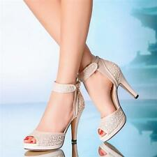 Ivory blue peep toes Wedding shoes ankle strap open toe lace heels Bridal boots