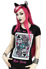 WE RE ALL MAD HERE Womens Fitted Top by Restyle Clothing. Gothic, Rock, Tattoo
