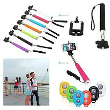 Bluetooth Shutter Selfie Extendable Handheld Monopod For iPhone Samsung TRC