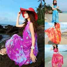 Fashion Beach Summer Dress Chiffon Dress Skirt Sweet Seaside Resort Long Dress