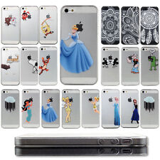 Transparent Cartoon PC hard  back Case Cover Skin For iPhone 4 4s 5 5S