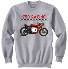 JAPANESE 750 RACING MOTORCYCLE - NEW GRAPHIC SWEATSHIRT- S-M-L-XL-XXL