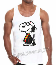 PLUTO HARRY POTTER VEST TSHIRT TOP HOGWARTS FUNNY PARODY GIFT DOG CUTE