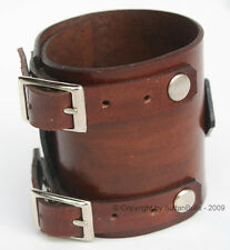 JOHNNY DEPP style handmade wristband first class leather bracelet cuff BROWN