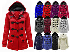NEW LADIES WOMENS HOOD DUFFLE TRENCH HOODED POCKET COAT JACKET PLUS SIZES 8-20