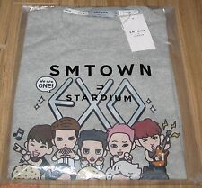 EXO SMTOWN COEX Artium OFFICIAL GOODS CHARACTER GRAY T-SHIRT SEALED