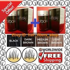2 Bottles of Caboki Hair Fibers 25g Hair Loss Concealer,FREE SHIPPING New&Sealed