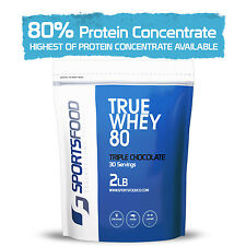 True Whey 80™ Protein Concentrate 2lb, 80% Protein Concentration, LOW Carb & Fat