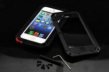 Extreme Military Heavy Duty Aluminum Metal Cover Case for iphone 4S 5 5S 6 Black