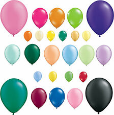 Packs of 25 Qualatex Latex Balloons Pearl & Solid Colours All Sizes Free Postage