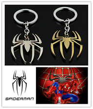 Marvel Spider-Man Logo Key Chain Spider Form Metal Pendant Car Key Ring