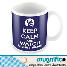 KEEP CALM WATCH DISNEY GIFT MUG CUP RETRO BRAND NEW ANY COLOUR FREE DELIVERY