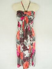 Sexy Casual Halter Summer Dress Sundress Party Cruise Colors Floral Pink M L XL