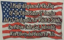 I PLEDGE THE ALLEGIANCE TO THE FLAG OF THE UNITED STATES OF AMERICA SHIRT #2180