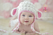 BabyLuv Crochet * LAMB HAT, Optional D.Cover, Leggings, Photo Props, Shower Gift