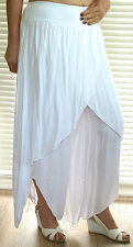 Fabulous lagenlook Italian cotton mix harem pants with over skirt RSP £49