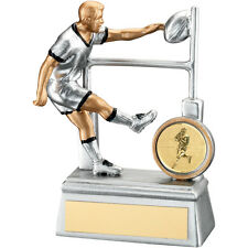Silver Finish Rugby award - Rugby Player Trophy  Free Engraving