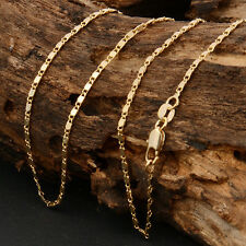 """1pcs Fashion 18K Yellow Gold filled Chain Rolo Luxury Men's Necklace 18""""-22"""""""