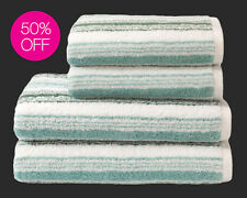 CHRISTY STRIPE TOWELS - HAND,BATH OR BATH SHEET BLUE BERRY OR TURQUOISE