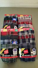new hanes boys woven boxers 4 pack
