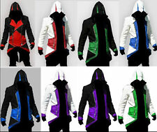 HOT Assassins Creed 3 Conner Kenway Jacket/Hoodie/Coat/Cap/Cloak Cosplay Costume