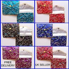Chinese Pouches - Chinese Silk Clutch Bag - Make Up Bags - Small Purse Bags