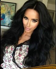 Malaysian Lace Front /Full lace wigs 100  human Remy Hair big wave   4  colors