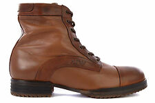 ARMANI JEANS MEN'S GENUINE LEATHER ANKLE BOOTS NEW BROWN  FD1
