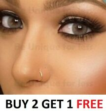 Thin Sexy 0.7mm Sterling Silver Nose Ring Small Nose Hoop- Diameter 6mm,8mm