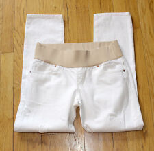 NWT GAP Maternity Demi Panel Destructed Real Straight Capri Jeans size 4 $69.95