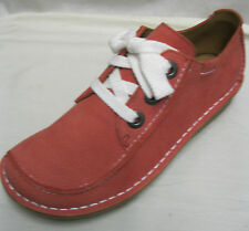 Ladies Clarks Funny Dream Coral Nubuck  Lace Up D Fitting