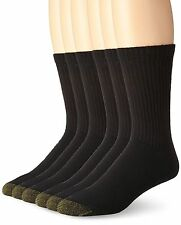 Gold Toe Men's Cushioned Cotton Crew Socks Size 6-13 Color Black 4 Pack 2 Pack