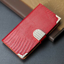 For Sony Xperia Z1 L39H Luxury Bling Leather Flip Wallet Case Stand Cover Skin