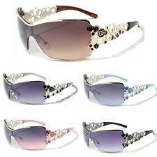 DG Womens Fashion Designer Semi Rimless Sunglasses Black Brown White Pink