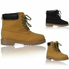 UK WOMENS CASUAL RUBBER GRIP SOLE LACE UP ANKLE STYLE LADIES SHOES BOOTS SIZES