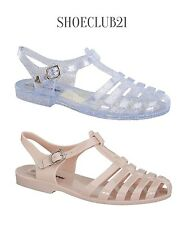 WD Jelly Rubber Flats Flip Flops Strappy Gladiator Sandals Shoes