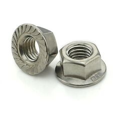 20PCS 304 Stainless Steel Hex Serrated Nut Flange Nuts M3-M12