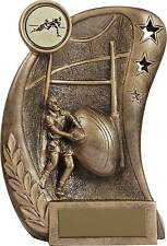 Rugby Trophies Resin Rugby Ball Player Scene Trophy Award 3 sizes FREE Engraving
