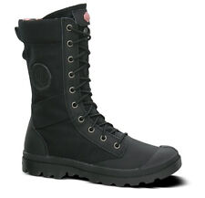 Women's Palladium Pampa Tactical Boot Zip Entry Leather/Nylon Black 92604-011