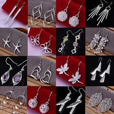 New Women's Fashion Jewelry 925 Sterling Silver SP vintage Dangle Earrings