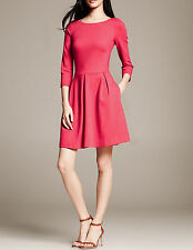 NWT Banana Republic New $130.00 Women Ponte Fit-and-Flare Dress Size 2P, 4