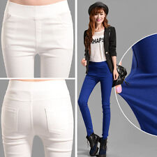 New Winter Womens High Waist Slim Trousers Stretch Skinny Leggings Pencil Pants