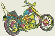 Motorcycle Embroidery Designs - 56 Designs - 11 Formats on CD or USB Drive