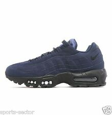 Nike Air Max 95 Suede Mens Trainers Shoes  Obsidian/Black