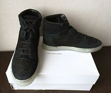 Balenciaga Multi-Material Black Corduroy High Top Sneakers 43EU, 44EU