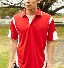 Unisex Sports Contrast Dry Fit Polo | Cool Dry Shirts | Plus Sizes | Size S-5XL